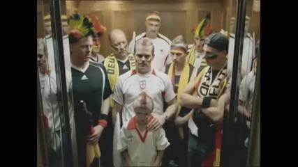 Англия - Германия - реклама на световното по футбол