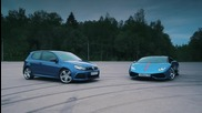 Vw Golf R Hgp vs Lamborghini Huracan - Test Drive
