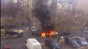 Запалена кола във Варна