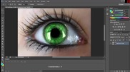 как да си сменим очите на снимка със Photoshop Cs6 еп.3