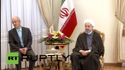 Iran: French FM meets Rouhani, Zarif in Tehran