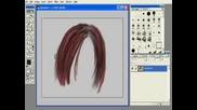 Как Се Рисува Коса В PhotoShop