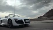 реклама на най - яката кола Audi R8 V10 Spyder