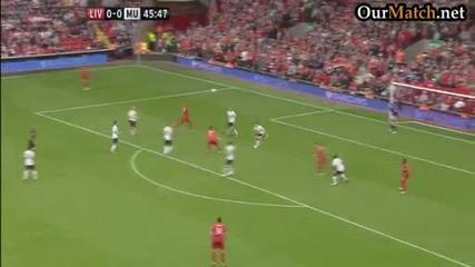 Страхотен гол на Стивън Джерард с/у Манчестър Юнайтед
