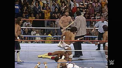 Andre the Giant attacks Hulk Hogan: Saturday Night's Main Event, Jan. 2, 1988