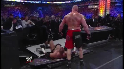 Wrestlemania 29 Brock Lesnar vs Triple H