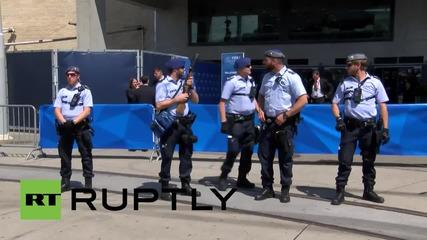 Switzerland: See FIFA HQ scuffles as pro-Palestinian activists call for Israeli boycott