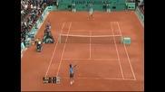 Roland Garros 2009 : Федерер - Сьодерлинг | последен гейм
