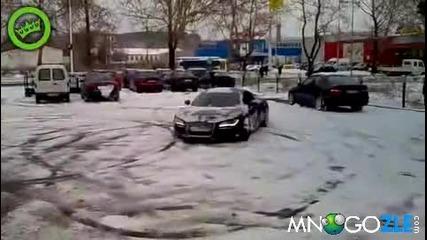 Софийско R8 дрифтва на сняг, Хубава машинка