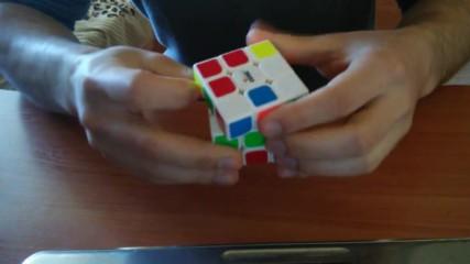 Невероятно решаване на кубчето на Рубик.