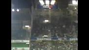 Агитката на Рен преди началото на мача с Локо Сф