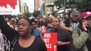 USA: BLM activists march through Seattle on anniv. of Mike Brown's death