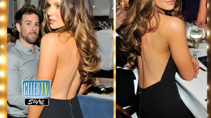 Kate Beckinsale Wows in Black Plunging Pantsuit