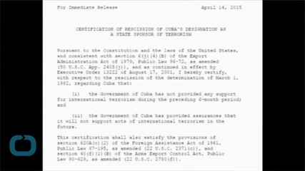 US Takes Cuba Off The Blacklist