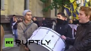 Ukraine: Nationalists march through Odessa on 'Defender of Ukraine Day'