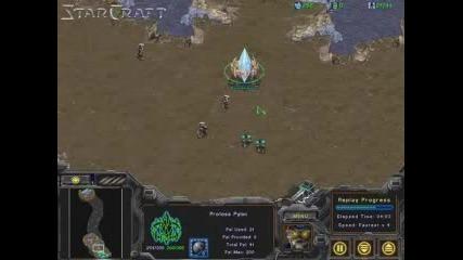 Starcraft Rush - Zealots Attack