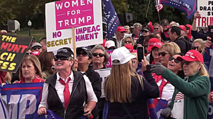 USA: Trump supporters rally outside Congress to demand end to impeachment push