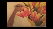 Рисуване на лалета с водни бои