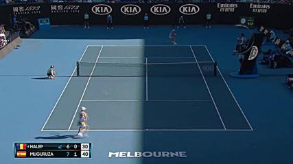 Simona Halep vs Garbie Muguruza - Extended Highlights Sf Australian Open 2020