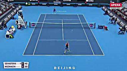 Wta Premier Beijing 18 Финал Анастасия Севастова - Каролина Возняцки