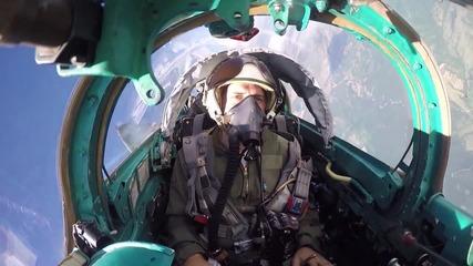 Маневрен въздушен бой в небето на България Миг-29 срещу Ф 15 - Тракийски Орел 2015 –та ( Full Hd )