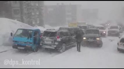 Скъпа зимна пързалка с коли
