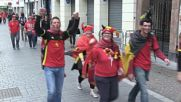 France: Belgium and Wales fans in jolly mood ahead of quarter final clash