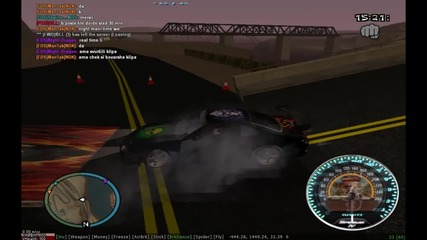 Hackeros drift with his new car