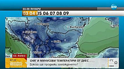 Сняг и преспи в Южна България