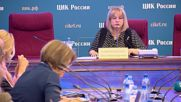 Russia: Electoral commission boss storms from presser after resignation question