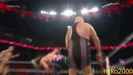 Orton, Ryback, Cesaro & Ziggler vs. Sheamus, Big Show, Owens & Rusev: Wwe Първична сила 24.08.2015