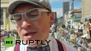 Colombia: Bogota bicycle rally celebrates 'Car-Free Day'