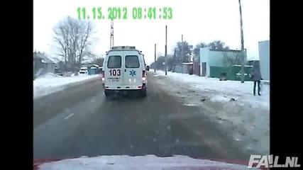 Шантав шофьор на линейка!