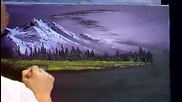 S06 Радостта на живописта с Bob Ross E07 - студена красота ღобучение в рисуване, живописღ
