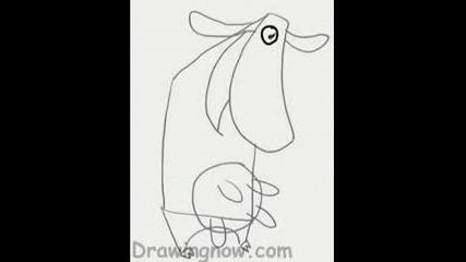 Как Да Нарисуваме Кравата От cow&chicken