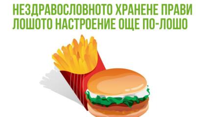 Нездравословното хранене прави лошото настроение още по-лошо
