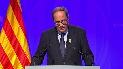 Spain: Catalan President Torra calls for calm, blames clashes on 'infiltrators'