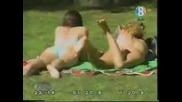 Куче в парка бърка в на жените дупетата ;дд !!! Много Смях