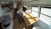 Училищен автобус се превръща в малка къща на колела