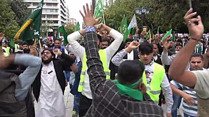 Greece: Pakistani community hold procession celebrating Prophet Muhammad's birthday in Athens