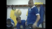 Ето как бразилците загряват преди мач !