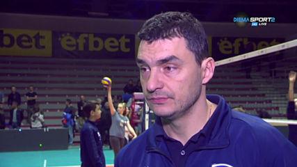 Владо Николов: Нефтохимик заслужено продължава, ще се опитаме да запазим тима