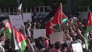 Jordan: Crowds take part in demo in support of Palestine held in Amman
