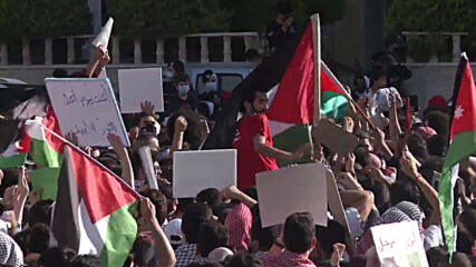 Jordan: Crowds take part in demo in support of Palestine held in Amman