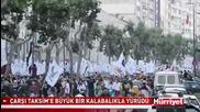 Хиляди протестиращи отново влязоха в парка Гези в знак на протест срещу Ердоган