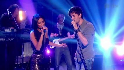 Enrique Iglesias ft. Nicole Scherzinger - Heartbeat (live Paul Ogrady 17.09.10) [hq]