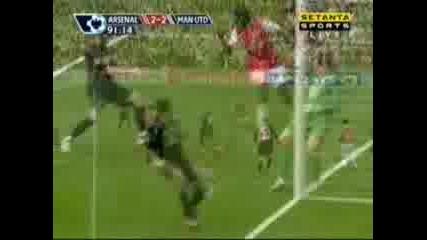 Arsenal : Man Utd 2:2 - Gallas Goal
