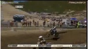 Mike Alessi takes Ben townley out at Usgp glen helen 2010