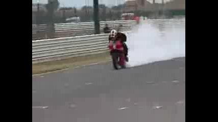 Benelli Tnt stunt