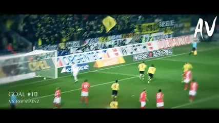 Robert Lewandowski - All 20 Goals in Bundesliga 2013/14 Season